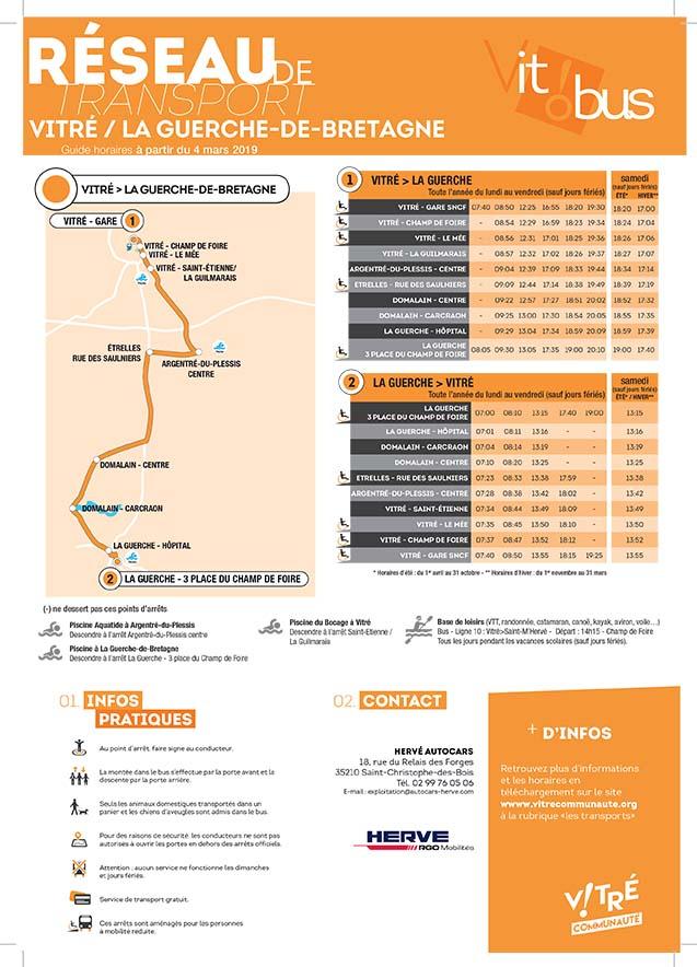 Guide horaire au 4 mars 2019